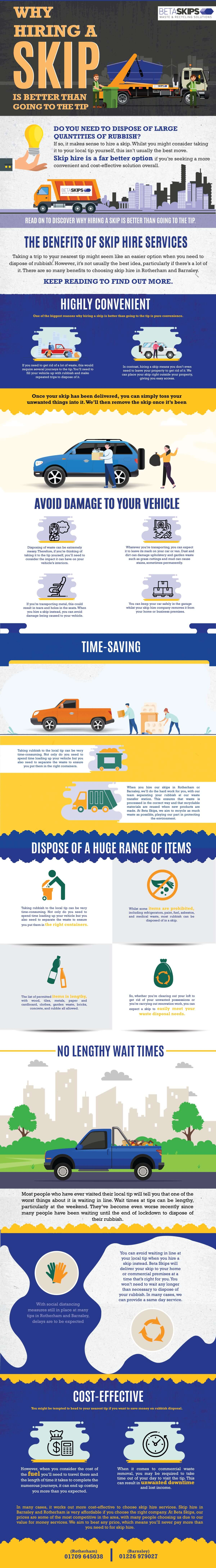 Why hiring a skip is better than going to the tip [Infographic]